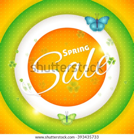 Spring Sale, Layered Background Design