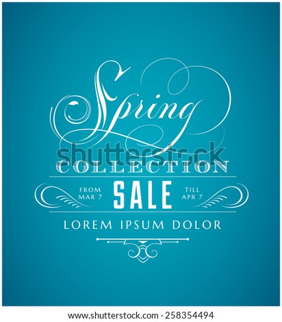 Spring Sale Lettering - stock vector