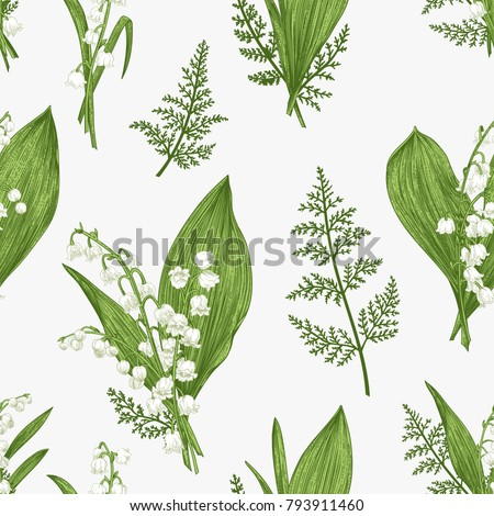 Spring seamless pattern lily valley flowers stock vector royalty spring seamless pattern with lily of the valley flowers mightylinksfo