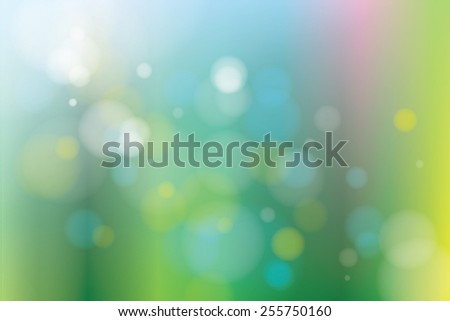 Spring theme abstract background No.2 with bokeh effect