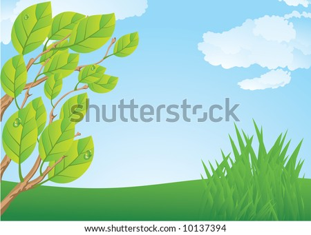 Spring time. Vector.