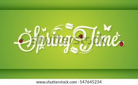 Spring Time Vintage Lettering Design Background.