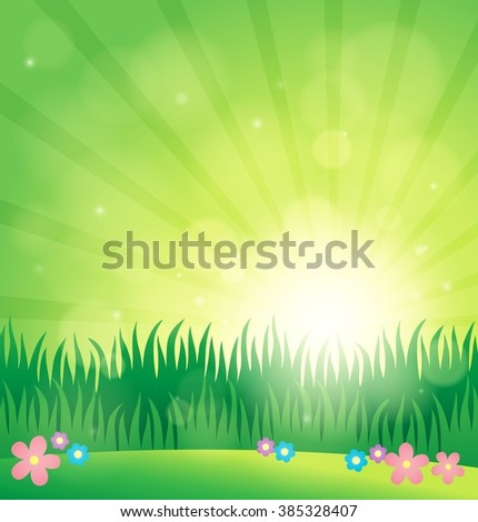 Spring topic background 1 - eps10 vector illustration.