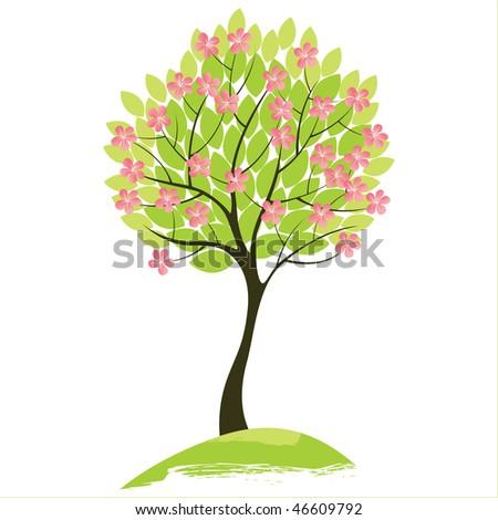spring tree - stock vector