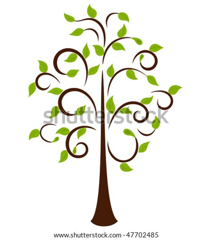 Spring Tree, element for design, ornament for Your card or emblem - stock vector
