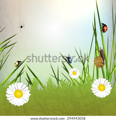 Spring vector background with space for text