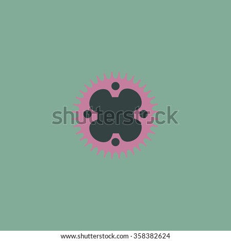 Sprockets Retro dim color vector flat icon - stock vector
