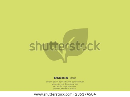 sprout eco sign, web icon - stock vector