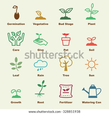 sprout elements, vector infographic icons - stock vector