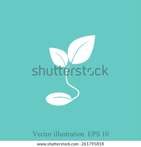 sprout grain icon - stock vector