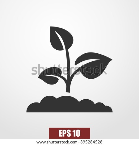 sprout icon vector - stock vector