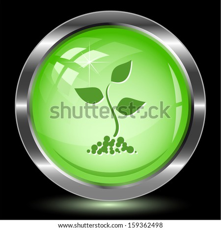 Sprout. Internet button. Vector illustration. - stock vector