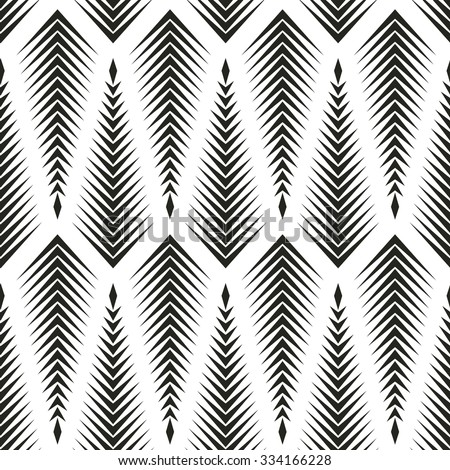 Spruce in monochrome pattern, geometric pattern, seamless vector background.