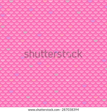 Squama fish snake lizard scales seamless background. Pink pattern. - stock vector