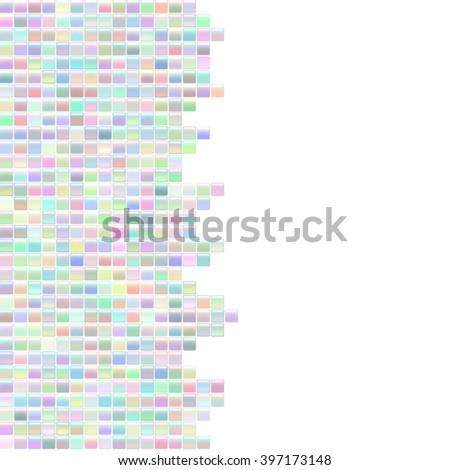 Square abstract background (texture). Glossy shine design elements. Light multicolored tiles mosaic template with place for text. Illustration for web or typography (magazine, brochure, flyer, poster)