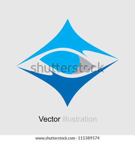 Square Abstract Blue logo. Icon Business Collection. - stock vector