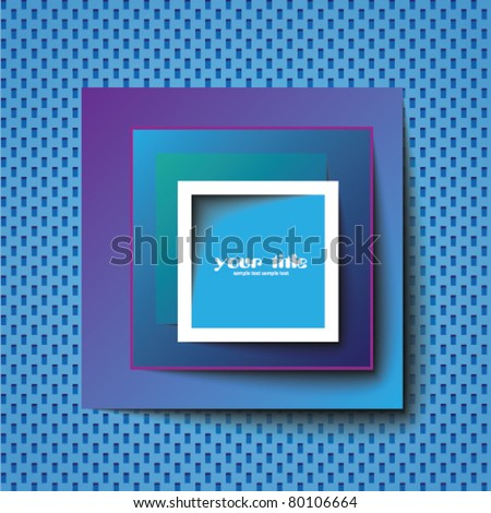 square abstract template / logo - stock vector