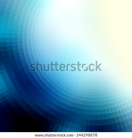 Square background for design.  The blur effect gradually turning into faceted - stock vector