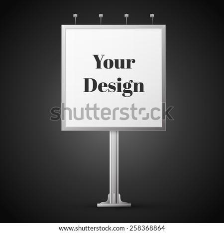 Square billboard ready for new advertisement, excellent vector illustration, EPS 10 - stock vector