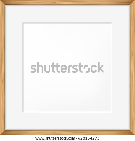 square blank picture frame template realistic stock vector 628154273