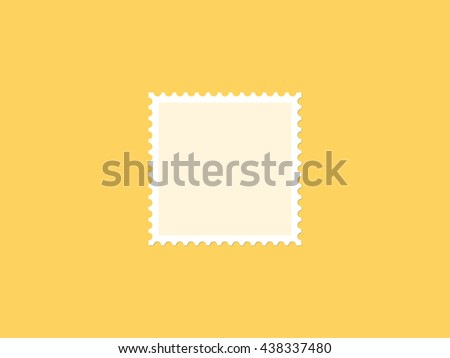 Square blank postage stamp, flat design - stock vector