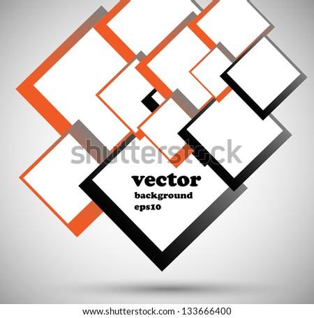 square box - stock vector