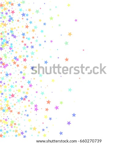 square card star vector isolated confetti stock vector 660270739