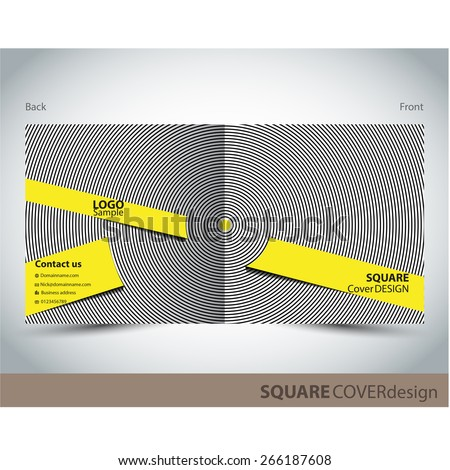 Square cover design - stock vector