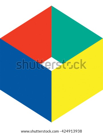 Square Cube Icon. Vector Illustration.