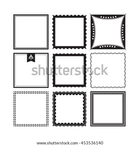 Square decorative border frames