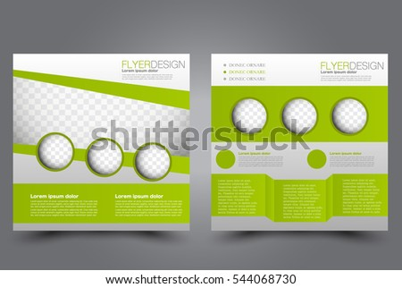 Vector Empty Brochure Print Template Design Stock Vector