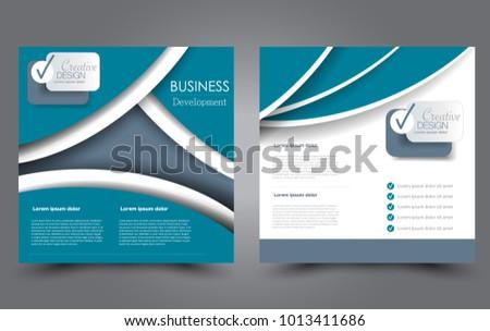 Square Flyer Template Simple Brochure Design Stock Vector 1013411686