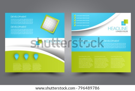 Square Flyer Template Simple Brochure Design Stock Vector 796489786