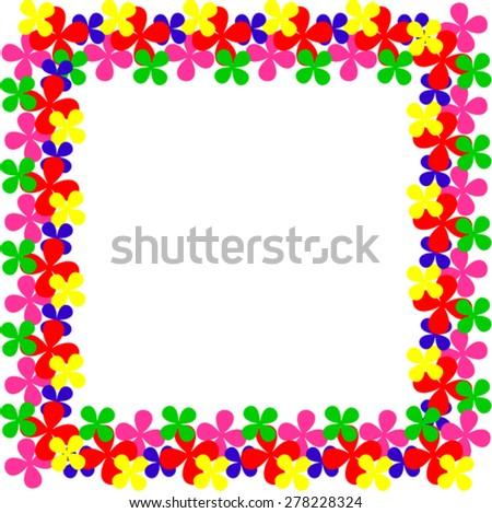 Square frame - stock vector