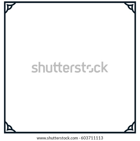 Square Frame Border Banner Vector Vintage Stock Photo (Photo, Vector ...