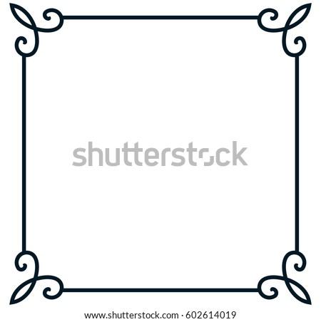 square frame border vector vintage banner stock vector 602614019 rh shutterstock com picture frame vector art picture frame vector pack