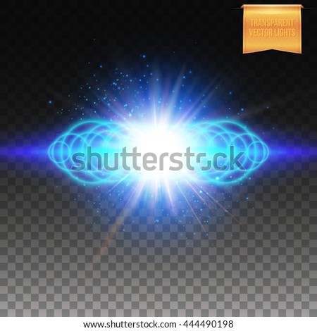 Square full frame multiple ringed blue fiery burst effect with sparkling lights and copy space as explosion over checkerboard background - stock vector
