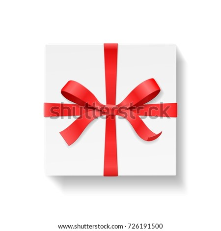 Empty Open Gift Box Red Color Stock Vector 726190735 - Shutterstock