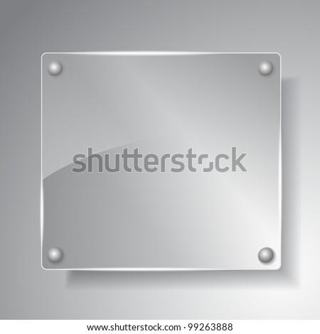 Square glass board, vector eps10 illustration - stock vector