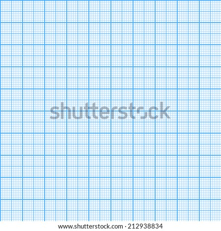Square grid seamless pattern. Vector illustration. Millimeter engineering paper background. - stock vector