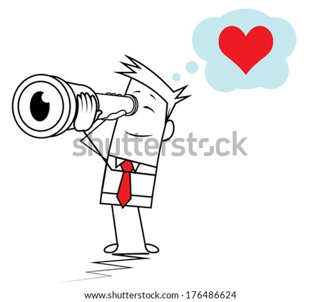 Square Guy - Dream of love - stock vector