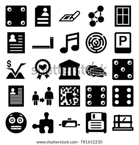 Square Icons Set 25 Editable Filled Stock Vector 781652230