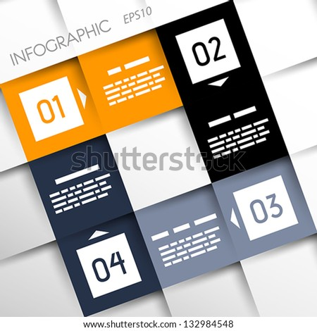 square infographic four options . infographic concept - stock vector
