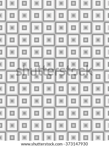 Square inside square gray pattern over white background  - stock vector