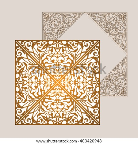 Wedding Invitation Greeting Card Abstract Ornament Stock