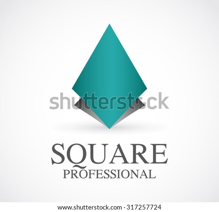 Geometric Square Rhombus Abstract Vector Logo Stock Vector ...