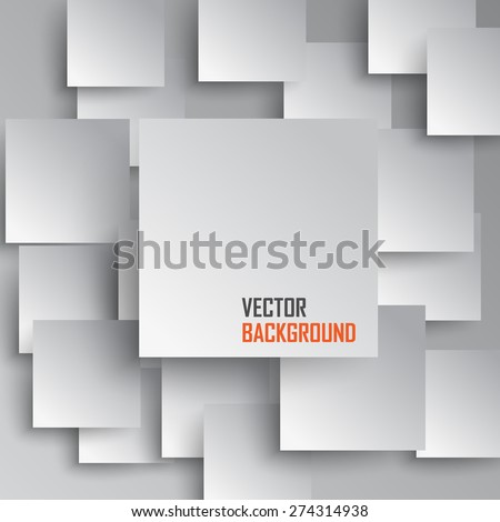 Square overlapping  Abstract background - stock vector