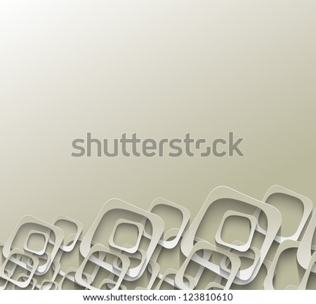 square pattern - stock vector