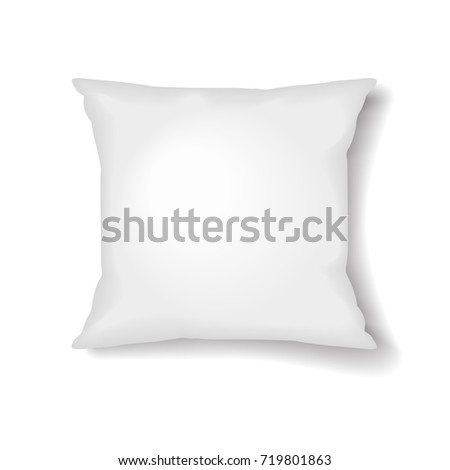 Square Pillow Template Isolated on White Background for your design