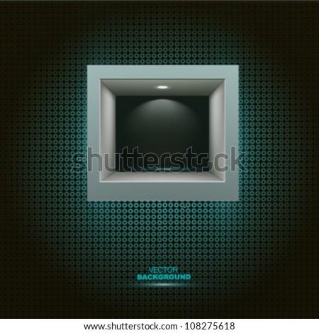 Square shelf background. Vector design - stock vector